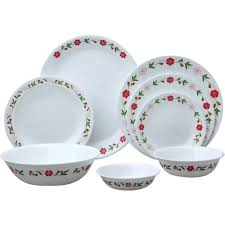 corelle dinner set designs in india. white with floral pattern corelle dinnerware set for ideas dinner designs in india