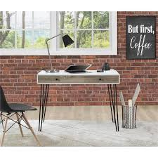 ameriwood home owen white sonoma oak retro student desk
