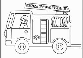 Preschool Fire Truck Coloring Page Fire Safety Coloring Page Fire
