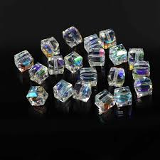 <b>ZHUBI</b> 30pcs <b>Glass</b> Flower/<b>Drop</b>/Heart/Leave Petal Beads Clear AB ...