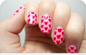 8 Beautiful Red Love Heart Design Nail Art 2016 - Katty Nails ...