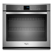 whirlpool 27 in single electric wall oven self cleaning in stainless steel