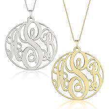 circle monogram necklace circle monogram necklace silver