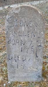 Sidney Mullins (1931-1933) - Find A Grave Memorial