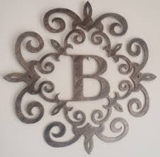 image of b large metal letters for wall decor