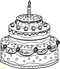 Blank Birthday Coloring Pages Fresh Excellent Cake Page Cakes Best