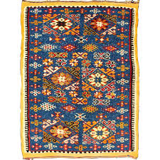 colorful moroccan rug vintage rug with bright blue field and colorful geometric motifs colorful moroccan rugs colorful moroccan rug