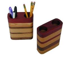 Wooden Pen and Pencil Holder