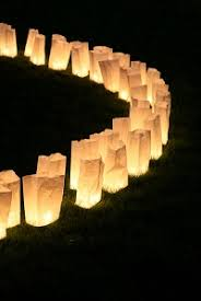When the holidays roll around many neighborhoods and parks put out  luminaries as a festive way to line and light the streets.