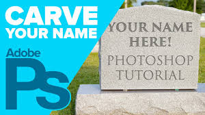 Design My Own Headstone How To Carve Your Name On A Tombstone In Photoshop For Halloween