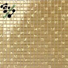 Modern Bathroom Tiles Wallpaper Waterproof For Bathrooms Gold Mosaic On Design Inspiration