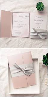115 best pocket invites images on pinterest marriage, pocket Pink And Gold Wedding Invitation Kits blush pink and gray ribbon pocket wedding invitation kits for spring Pink and Gold Glitter Wedding Invitations