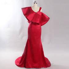 Elegant Long Gown Design 2018 Lzf052 High Quality To Design Simple Elegant Mermaid Sleeveless Evening Dresses 2018 Red Empire Special Design Satin Dresses January 2020