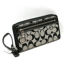 Home · Coach · Daisy Signature Large Zip Around Wallet  Clutch  Wristlet  Black. CLICK THUMBNAIL TO ZOOM. Found ...