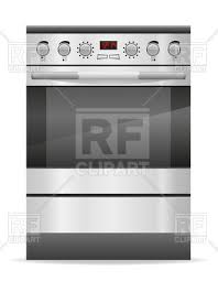 gas stove clipart black and white. gas stove for kitchen, 55345, download royalty-free vector image clipart black and white p