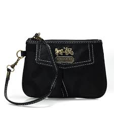 Coach Madison In Signature Small Black Wristlets AHZ