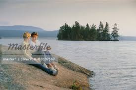Couple by Lake - Stock Photo - Masterfile - Rights-Managed, Artist: Marc  Vaughn, Code: 700-00197567