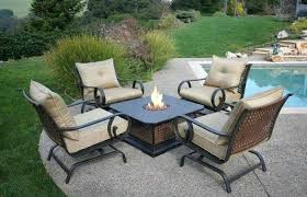 fresh patio fire pit table sets ideas furniture set outdoor pits dining inspirational new