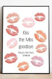 bachelorette party gifts kisses for bride