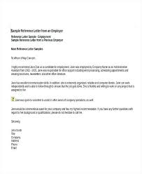 letter of recommendation for former employee template employee reference letter examples recommendation letter for