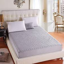 Hypoallergenic Quilted Bed Mattress Pad Waterproof Mattress Cover Soft Topper Washable Protector Matelas