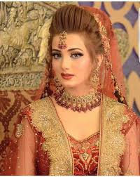 kashees beautiful bridal hairstyle bridal makeup