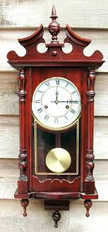 vintage wall clock with pendulum wood wall clocks pendulum ornate day cherry wood wall clock pendulum