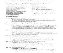 Industrial Maintenance Mechanic Sample Resume Maintenance Mechanic Resume Example High School Template No Work 91