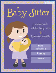 Babysitting Ads 13 Fabulous Psd Baby Sitting Flyer Templates In Word Psd Eps