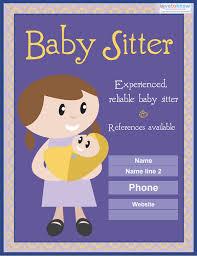 Babysitting Flyer Template 13 Fabulous Psd Baby Sitting Flyer Templates In Word Psd