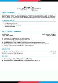 Cv Template Office Cv Template Front Desk Agent Asiahospitalitycareers Com