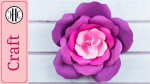 Paper Flower Template Free Giant Paper Roses Free Template Country Hill Cottage Youtube