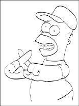 Kleurplaat Homer Simpson Voetbalfan Gratis Kleurplaten