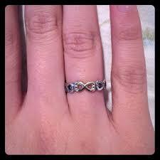infinity ring pandora. pandora jewelry - 14k gold sterling silver infinity ring e