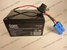 kid trax style 12 volt 12ah battery and wiring harness blue image 1