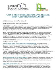 Superstorm Sandy Claim Help United Policyholders