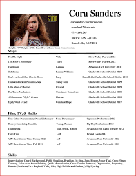 Beginner Actor Resume Sample Acting Example No Experience Inside For