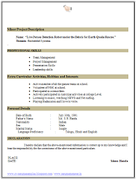 Example Resume Mentioning Interests For Sample Resume For Assistant Teacher  With Hobbies And Interest Carpinteria Rural