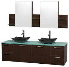 amare espresso double vanity medicine cabinets modern bathroom vanities and sink consoles by bath expo showroom
