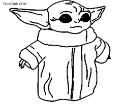 Printable coloring pages for girls. Baby Yoda Coloring Page Free Printable Funsoke