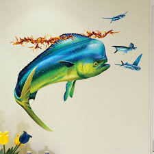 mahi mahi dolphin fish wall decal on copper dolphin wall art with mahi mahi dolphin fish wall decal bold wall art
