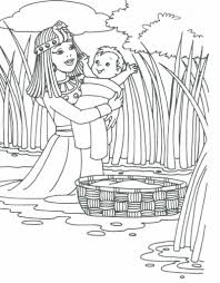 Baby Moses Coloring Page Free Baby Moses Coloring Page Baby Moses
