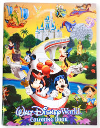 The most common color, from a trademark usage perspective, is probably white, because that is the color most often used when printing the walt disney or disney names on merchandise, such as tags, labels. Walt Disney World Coloring Book Walt Disney World Exclusive Walt Disney World Amazon Com Books