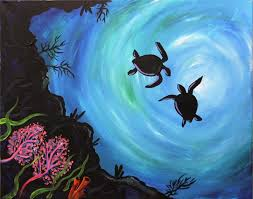 turtle cove canvas painting register now art event in fort lauderdale