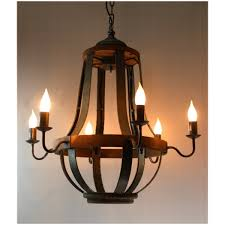579 iron strap and aged wood chandelier french country vintage pertaining to well known french wooden