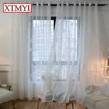 korean white embroidered voile curtains for bedroom window curtain living room sheer curtains white blinds custom madein from home u0026 garden on o50 white