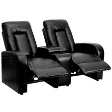 flash furniture eclipse series 2 seat motorized push on and automated reclining black leather