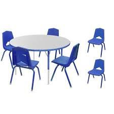Marco Group One Youth 48 Round Activity Table Six 14 Stack Chair