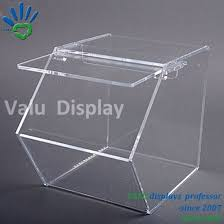 countertop clear acrylic bulk candy dispenser box with plastic scoop holder