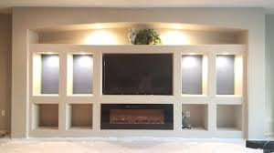 drywall entertainment center